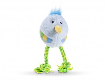 Speelgoed hond mini pluche vogel