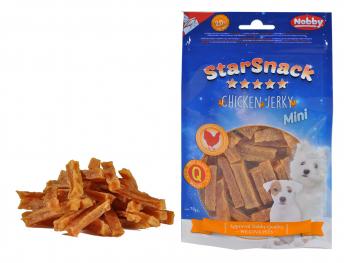 Snack hond mini kip jerky reepje