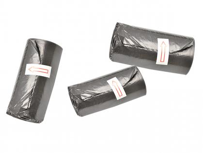 Sachets hygiéniques noirs -5 rouleaux (15)