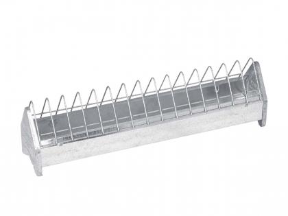 Poultry feeder galvanised 50x10x13cm