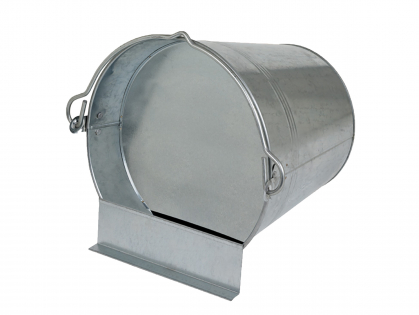 Galvanised lying bucket drinker 7 L