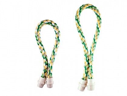 multicoloured sitting rope