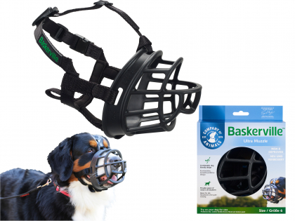 BASKERVILLE ULTRA Muzzle nr 6 Rottweiler