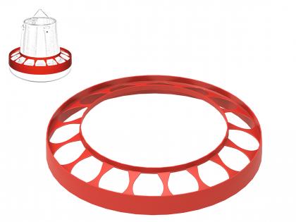 Distribution ring for feeding silo