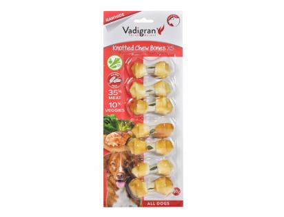 Kauwbeen geknoopt kip & groenten