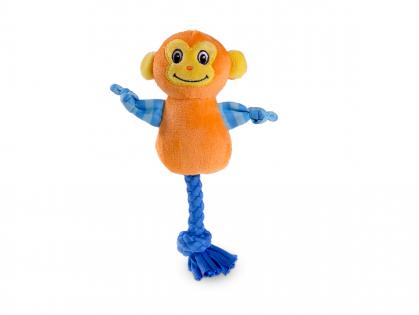 Speelgoed hond mini pluche aap