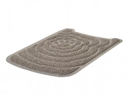 Mat for cat litter tray grey 47x31cm