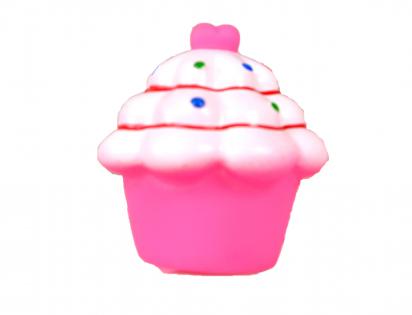 Squeaker cupcake pink
