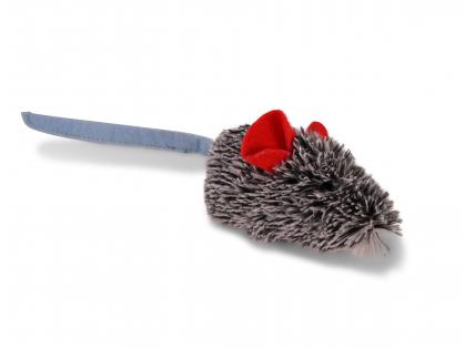 Speelgoed kat pluche muis Franka grijs