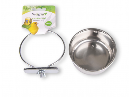 Feeding bowl stainl.steel + 1 wing nut 9,5cm-0,30L