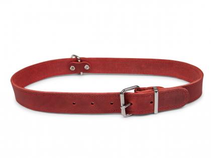 Collier cuir huilé rouge 70cmx30mm XXL