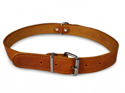 Collar oiled leather cognac 70cmx30mm XXL