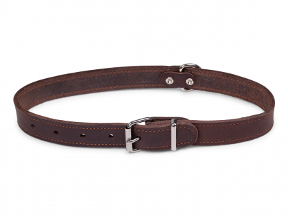 Collar oiled leather brown 70cmx30mm XXL