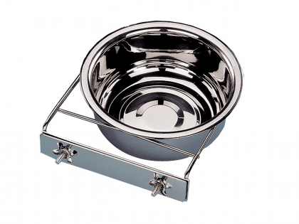 Feeding bowl stainl.steel + 2 wing nut 20cm-1,80L
