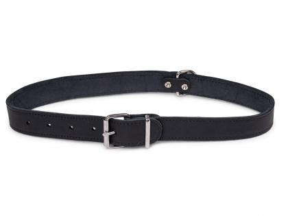 Collar oiled leather black 70cmx30mm XXL