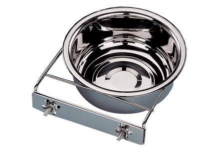 Feeding bowl stainl.steel + 2 wing nut 18cm-1,30L