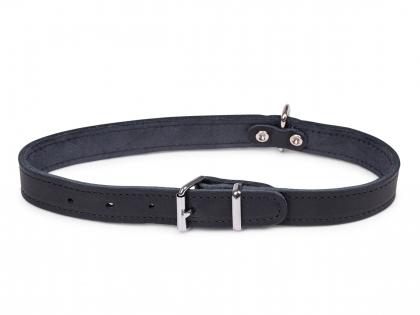 Halsband geolied leder zwart 60cmx25mm XL