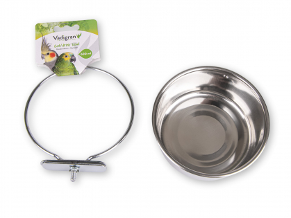 Feeding bowl stainl.steel + 1wing nut 12cm-0,60L