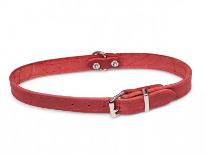 Collier cuir huilé rouge 47cmx18mm M-L