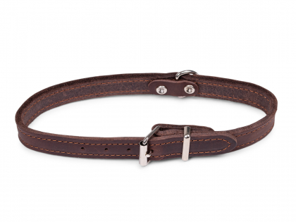 Collar oiled leather brown 47cmx18mm M-L