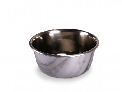 Feeding bowl Selecta marble look&stainl.stl 950ml