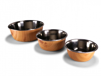 Feeding bowl Selecta woodlook