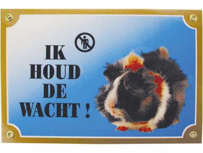 Warning sign Guinea pig
