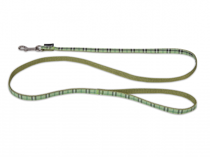 Leash dog nylon Tartan green 120cmx10mm S