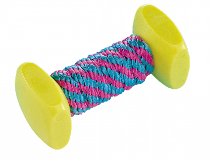 Nylon dumbbells & rope blue/pink