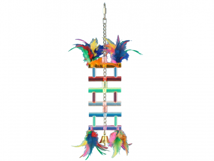 Speelgoed vogel plexi love ladder