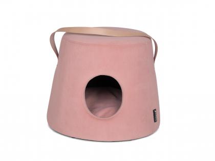 Puff for dog Marie velvet pink