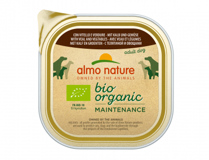 BIO Organic Dogs 300g with veal and vegetables