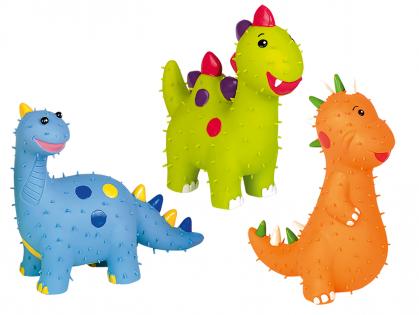 Speelgoed hond latex dinosaurus