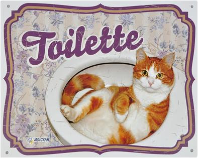 Waakbord kat Toilette