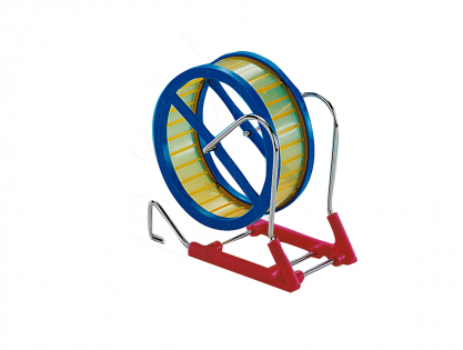 Hamster wheel metal/plastic 12cm
