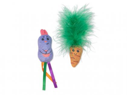 Speelgoed kat set konijntje en wortel