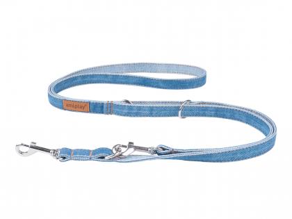 Ami Leash Denim 6 in 1 blue 100-200cmx20mm L