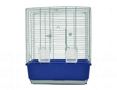 Cage little bird Katia chrome/blue 41x31x50cm
