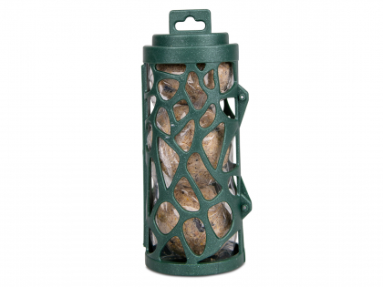Recycled feeder with fat balls