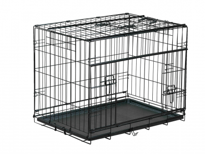 Transport cage foldable premium black 76x53x61cm