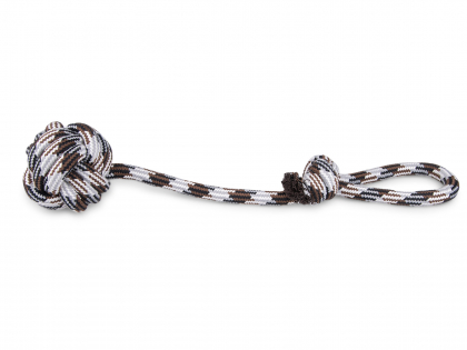 Rope + handle + ball brown