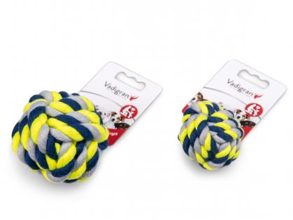 Katoen bal blauw-geel