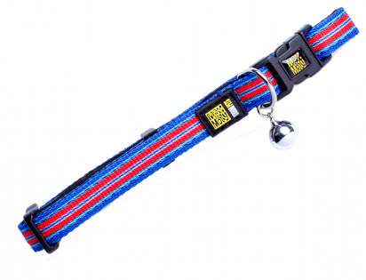 Halsband kat Hampton Strip Blue