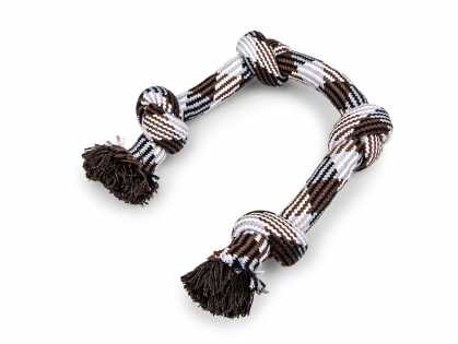 Rope 4 knots brown