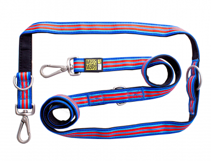 Leash multifunction Hampton Strip Blue L25mmx200cm