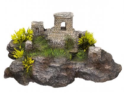 Aqua Deco Asian Brick Ruin