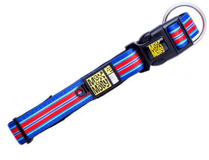 Collier Hampton Strip Blue XS 10mmx22-35cm