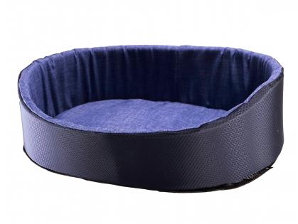 Basket All Seasons dark blue 70x50x22cm