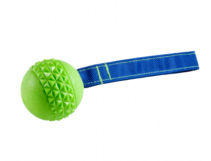 Speelgoed hond TPR bal touw Green Apple
