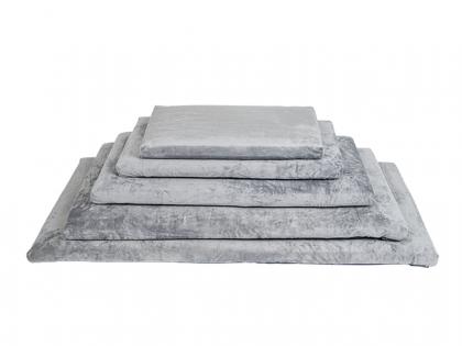 Bench cushion soft plush grey